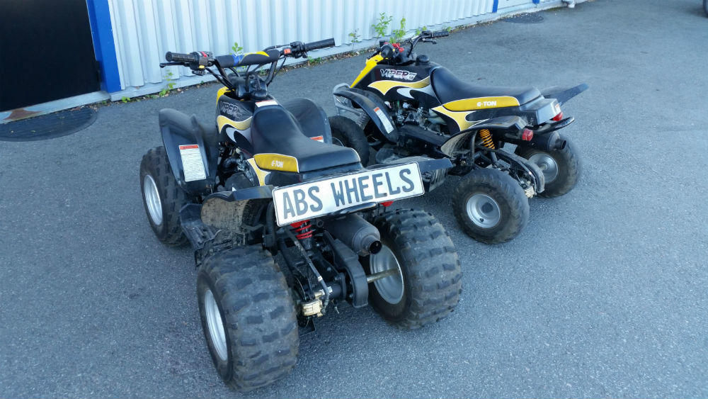 naked babes on four wheelers