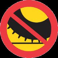 Dubbdäcksförbud skylt