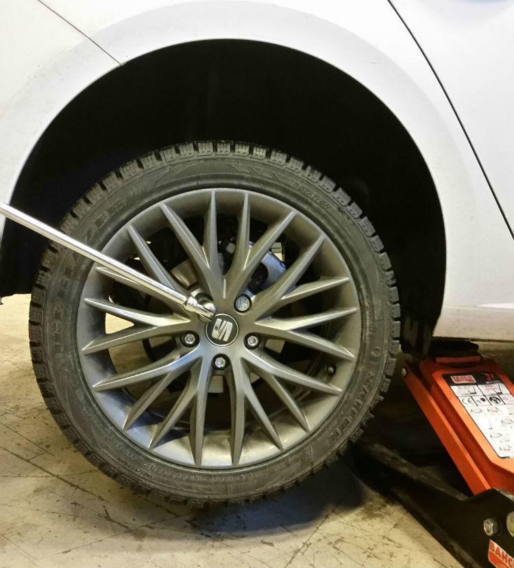 Byta ut ett däck