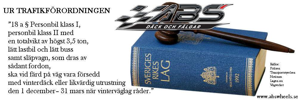sveriges rikes lag vinterdäck