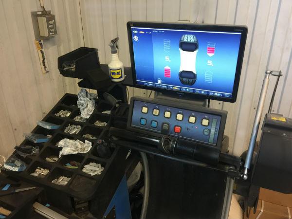 montering och balansering maskin