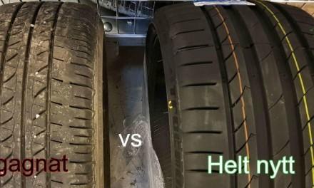 Begagnade däck – fördelar vs nackdelar