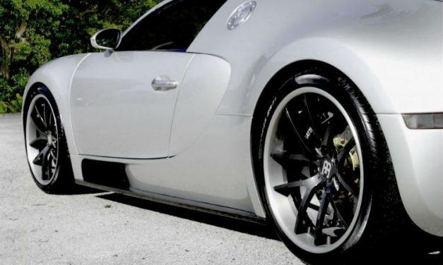 Cor Wheels har monterat hjul på en bugatti
