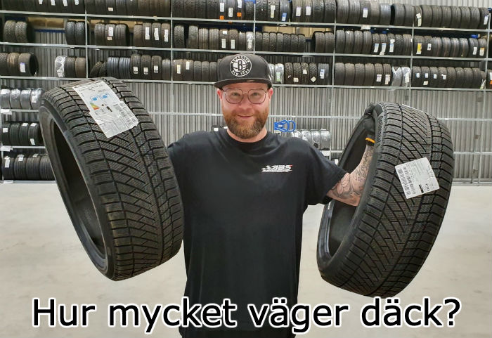 hur mycket väger ett däck