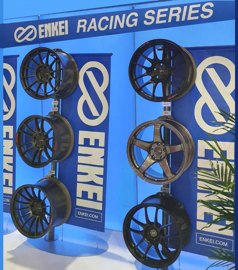 Enkei Wheels monterplats i SEMA SHOW 2019