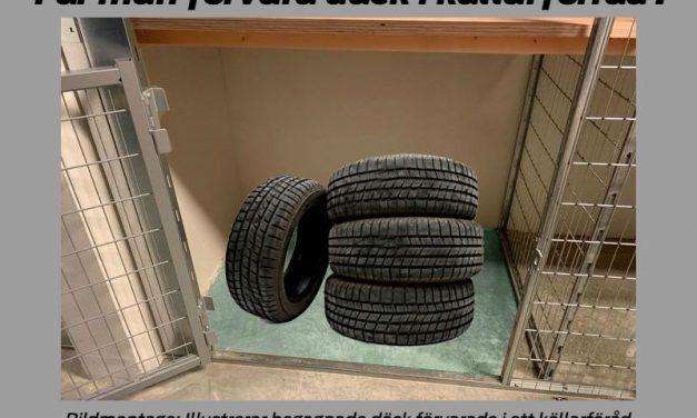 Får man förvara däck i källarförråd