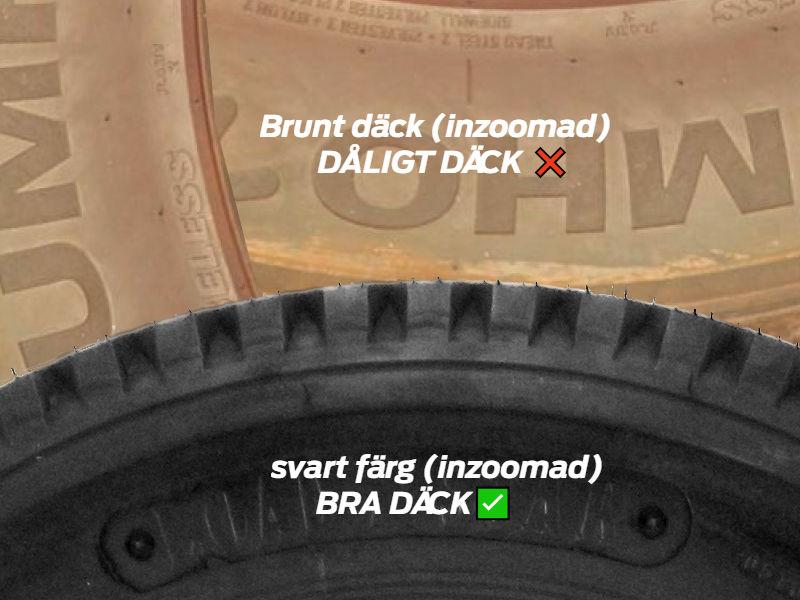 svart vs brun däck