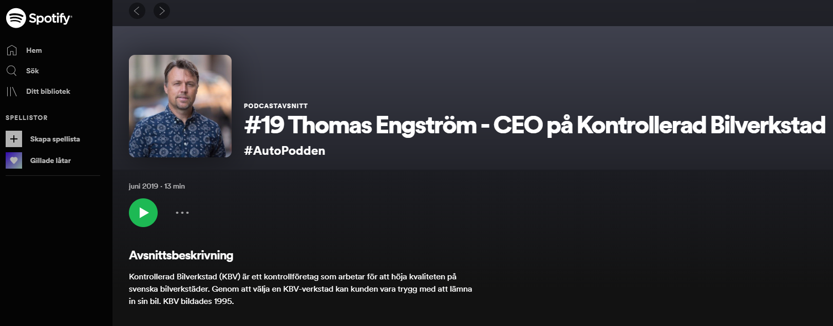 I det här avsnittet intervjuades Thomas Engström av Jorge Castro (autopodden) som drevs på uppdrag av ABS Wheels